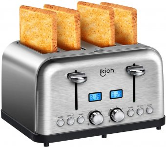 ikich 4-Slice Stainless Steel