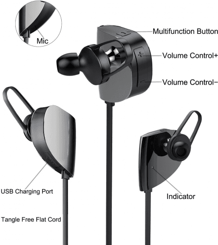Picture 1 of the Vomach Bluetooth Earphones.