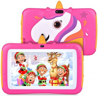 Yisence 7-Inch Pink Kids Tablet